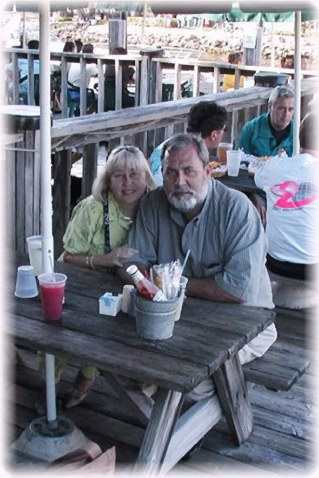 Kathy and I at Shirttail Charlies on the Ft Lauderdale river walk, March 2003